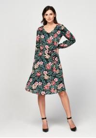 Sukienka w tropikalny motyw