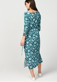 Turquoise tied dress
