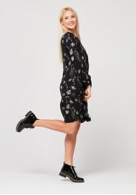 Luźna sukienka z falbanką