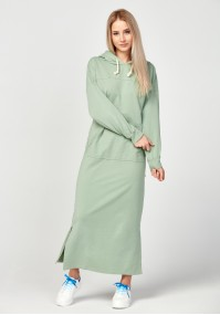 Green kangaroo pocket dress