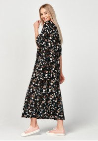 Maxi dress with colorful patterns