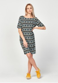 Dress with slit on the back
