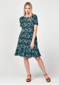 Linen dress with flowers