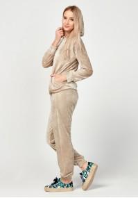 Velvet beige hoodie