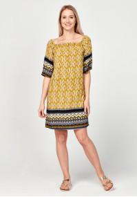 Żółta sukienka hiszpanka