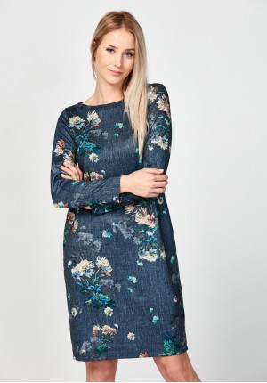 Flowery straight dress