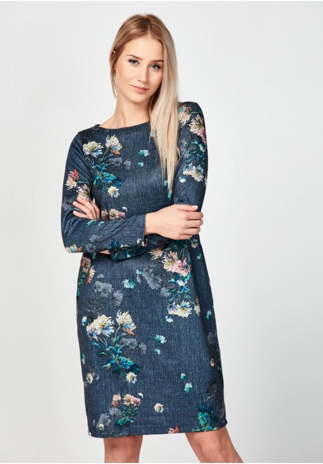 Flowery straight dress