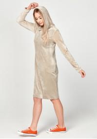 Velvet beige dress