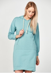 Mint hoodie dress