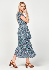 Floral dress with frills