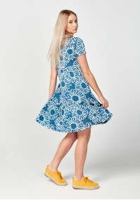 Dress with big flowers