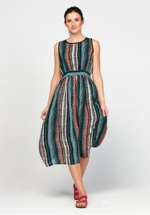 Dress with stripes