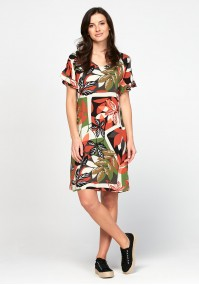 Dress with leaves
