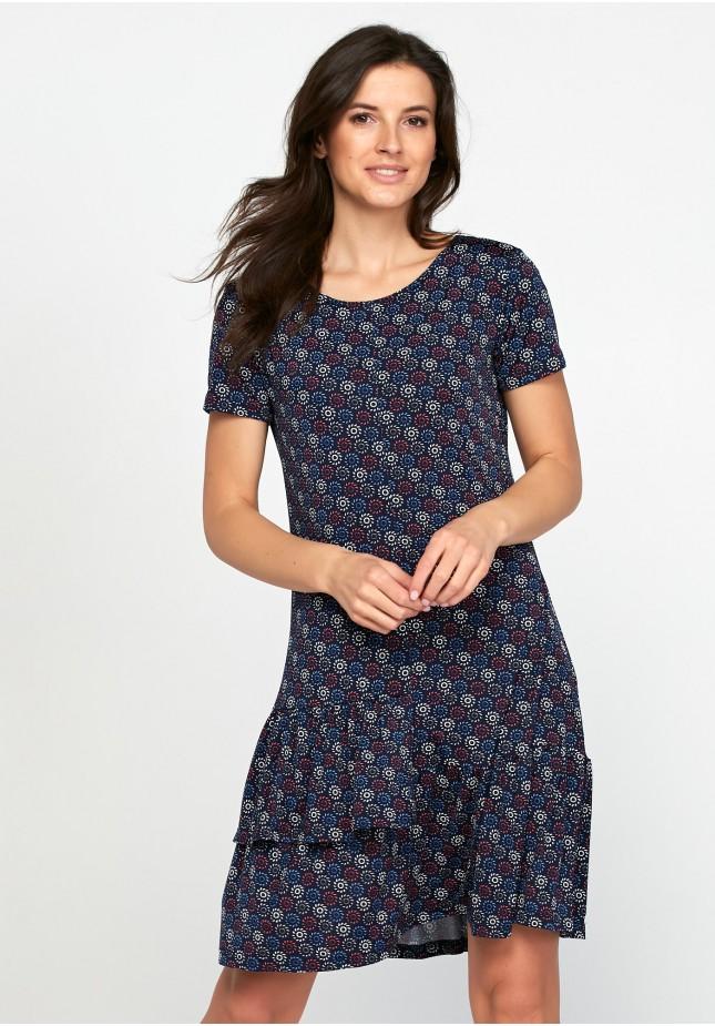 Sukienka w rozety