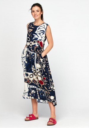 Midi odcinana sukienka