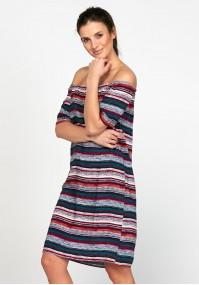 Off shoulder dress with stripes