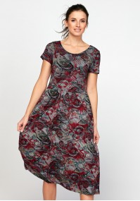 Tapered waist midi dress