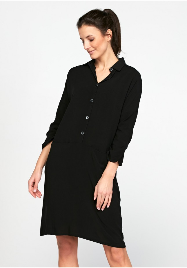 Prosta czarna Sukienka