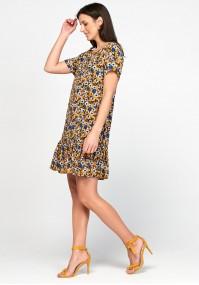 Żółta sukienka w kwiaty