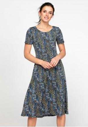 Odcinana sukienka łączka