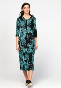 Dopasowana sukienka maxi
