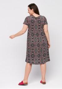 Dress with geometric pattern
