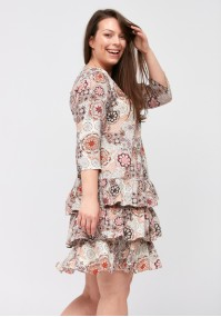 Dress with frills