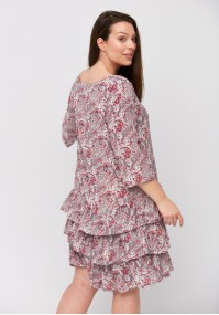 White and red paisley dress
