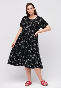 Black dress with white flowers