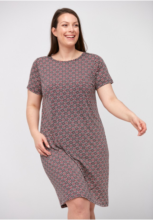 Simple dress with geometric pattern