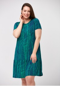 Green and navy blue dress