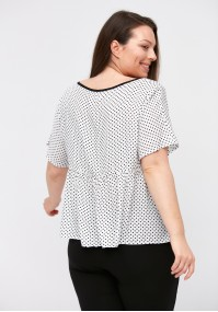Blouse with dots