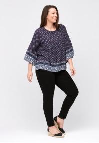 Navy blue comfortable blouse