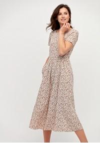 Lniania sukienka midi