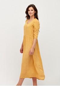 Żółta sukienka w kwiatki