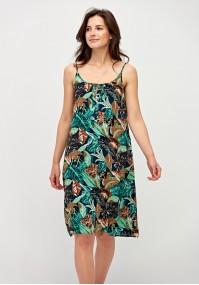 Letnia sukienka na ramiączkach z kieszeniami