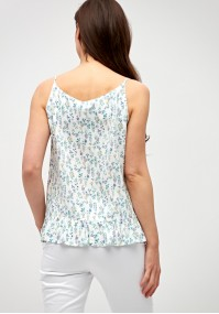 Blouse with frill