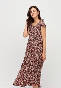 Sukienka w czerwono-różowe kwiatki