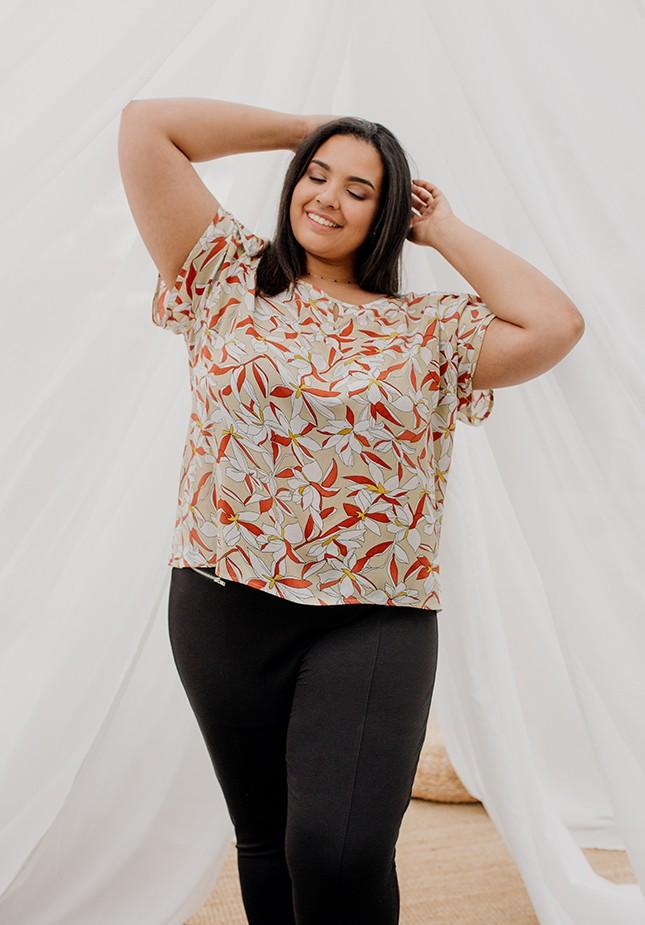 Floral pattern blouse