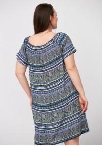 Colorful off-shoulder dress