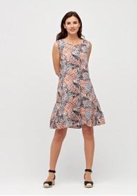 Dress with animal pattern