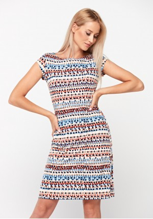Sukienka w kolorach ziemii