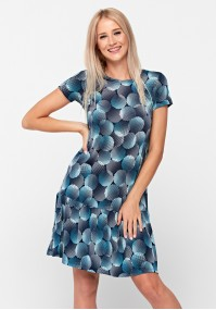 Blue dress with frill