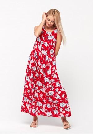 Maxi sukienka bez rękawów
