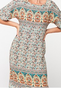 Dress with colorful pattern