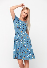 Dress with small circles