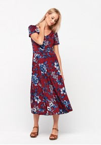 Dress with blue flowers