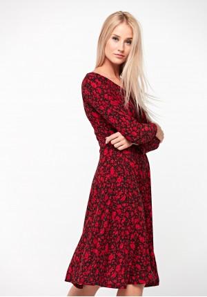 Czarno-czerwona sukienka
