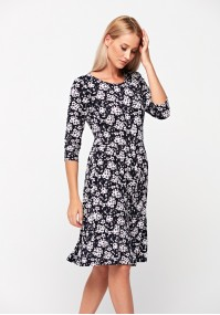 Dress with white and purple flowers