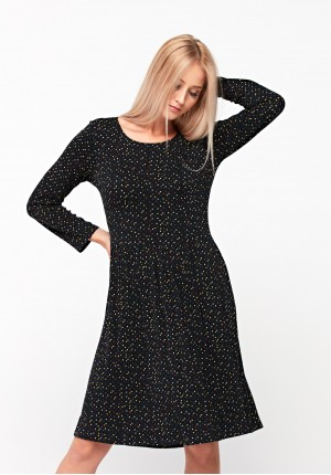 Dress with colorful polka dots